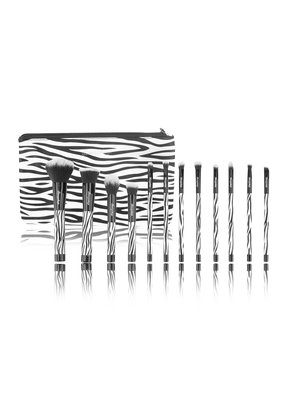 Boozyshop Make up kwasten set van 12 zebra