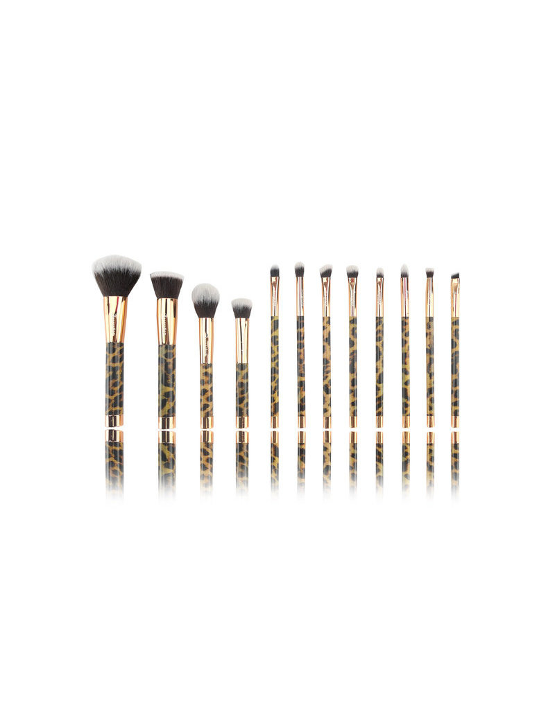 Boozyshop Make up kwasten set van 12 panterprint
