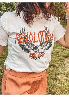 Cheveuxx Revolution white t-shirt