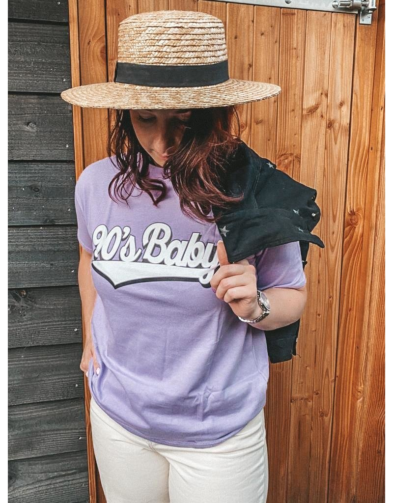 Cheveuxx 90's baby t-shirt paars