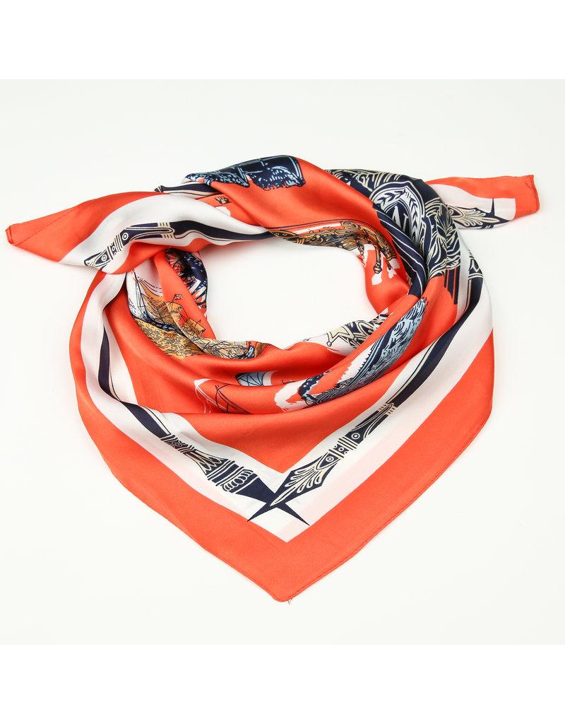 Sjaal satijn Oranje