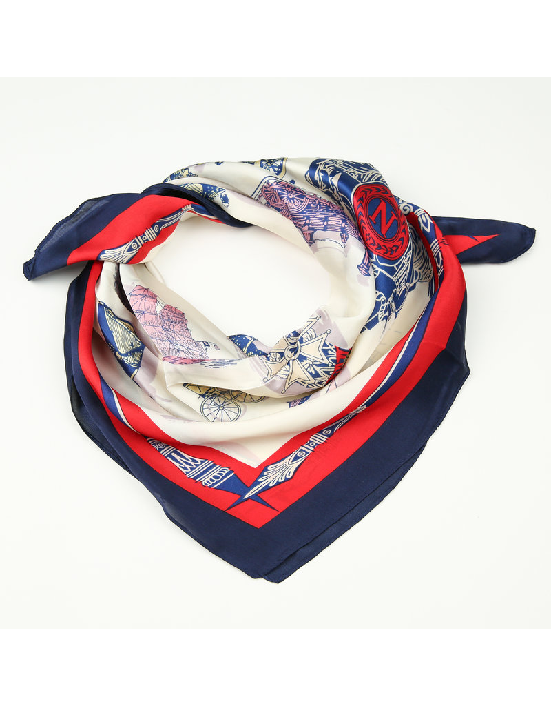 Sjaal satijn Blauw