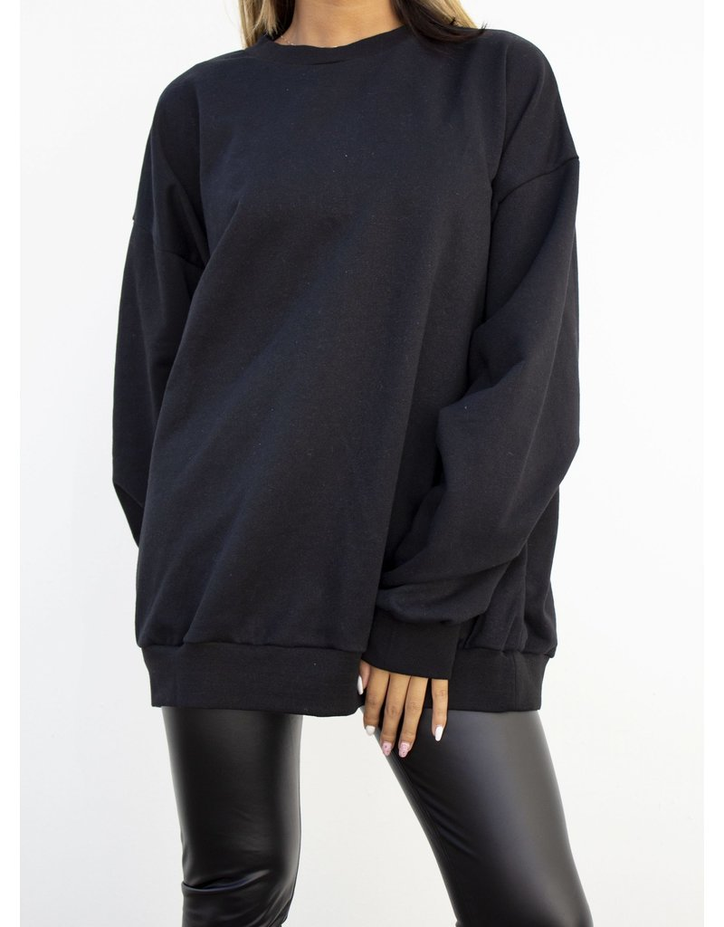 Dor trui zwart goud - oversized
