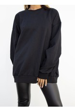 Dor trui zwart - oversized