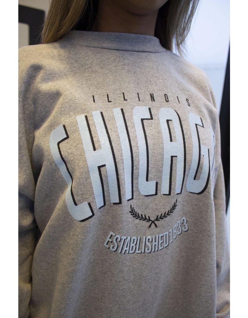 Chicago trui blauw en grijs
