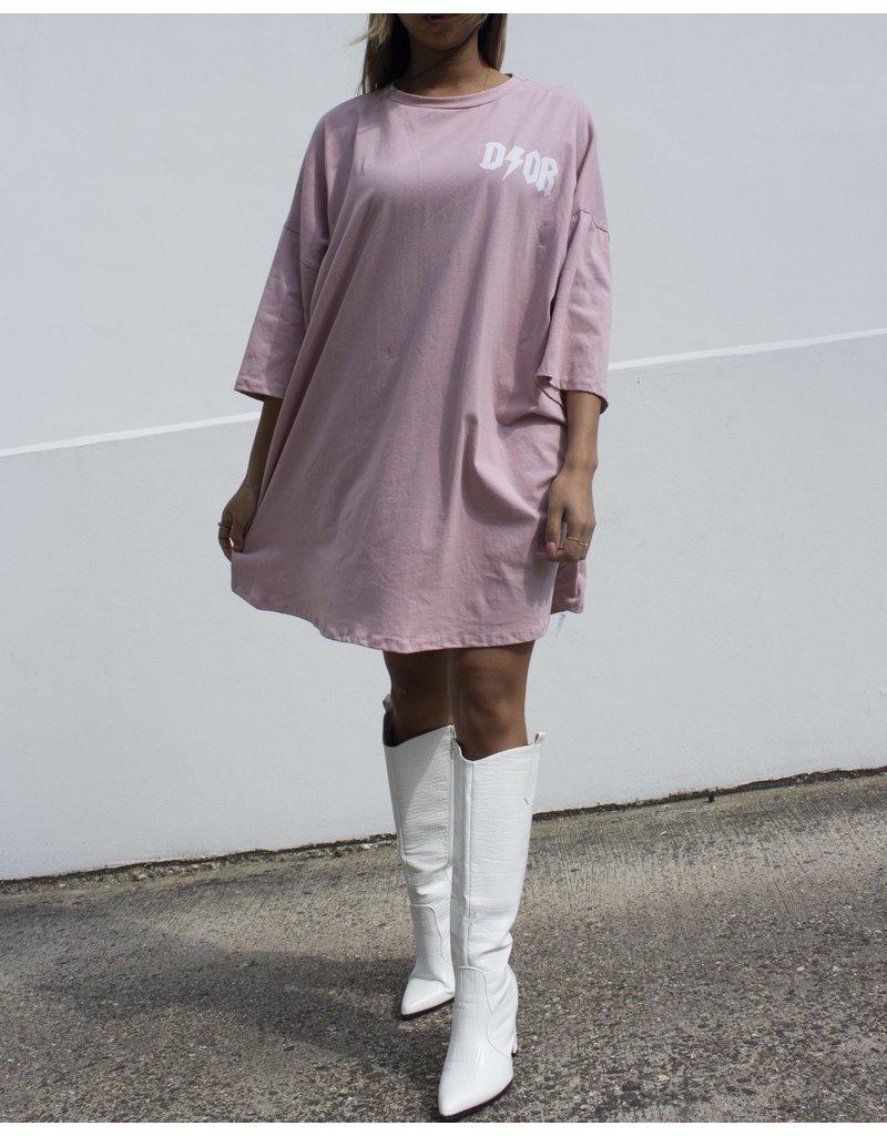 Cheveuxx T-shirt Dor oversized roze