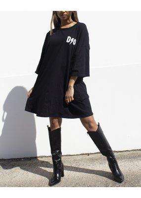 Cheveuxx T-shirt Dor oversized zwart