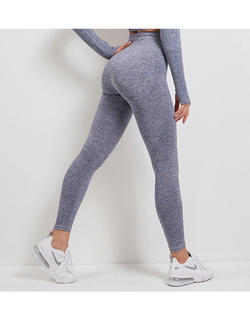 Cheveuxx Sport legging blauw- rekbaar