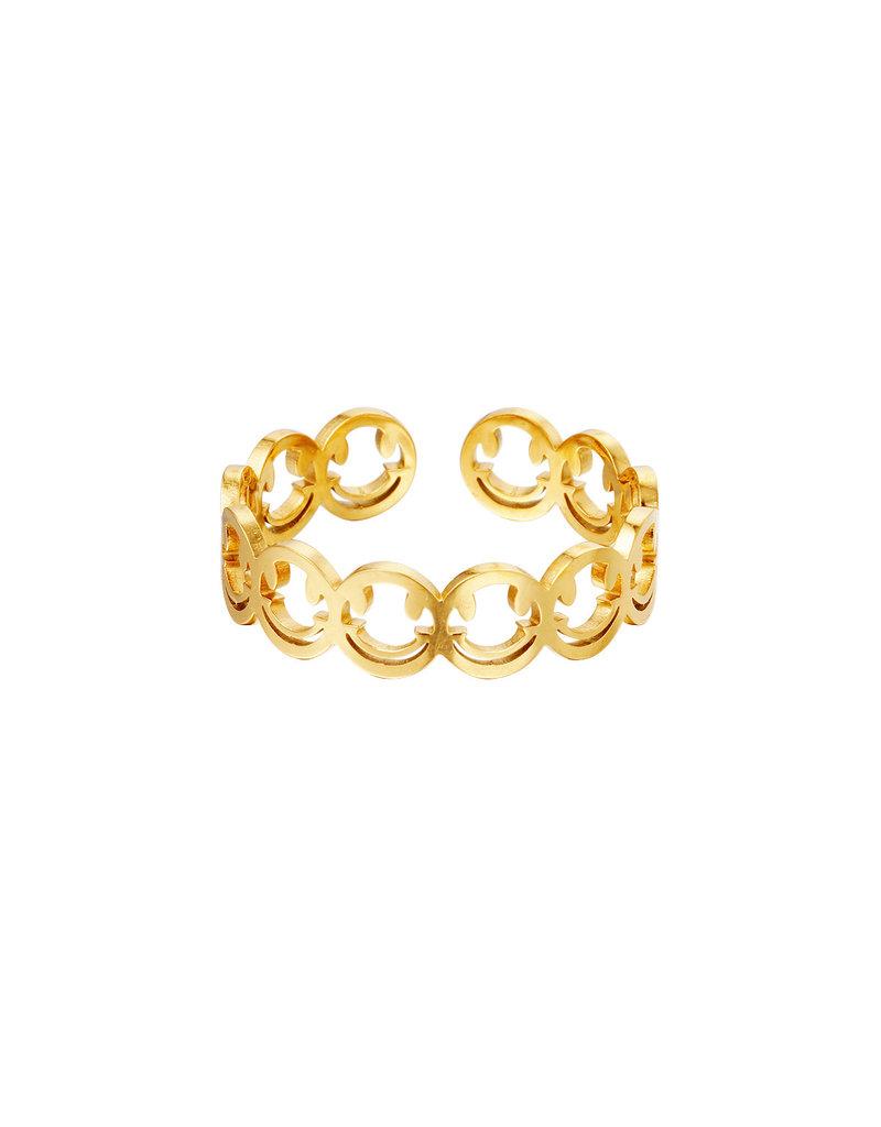Ring goud smiley