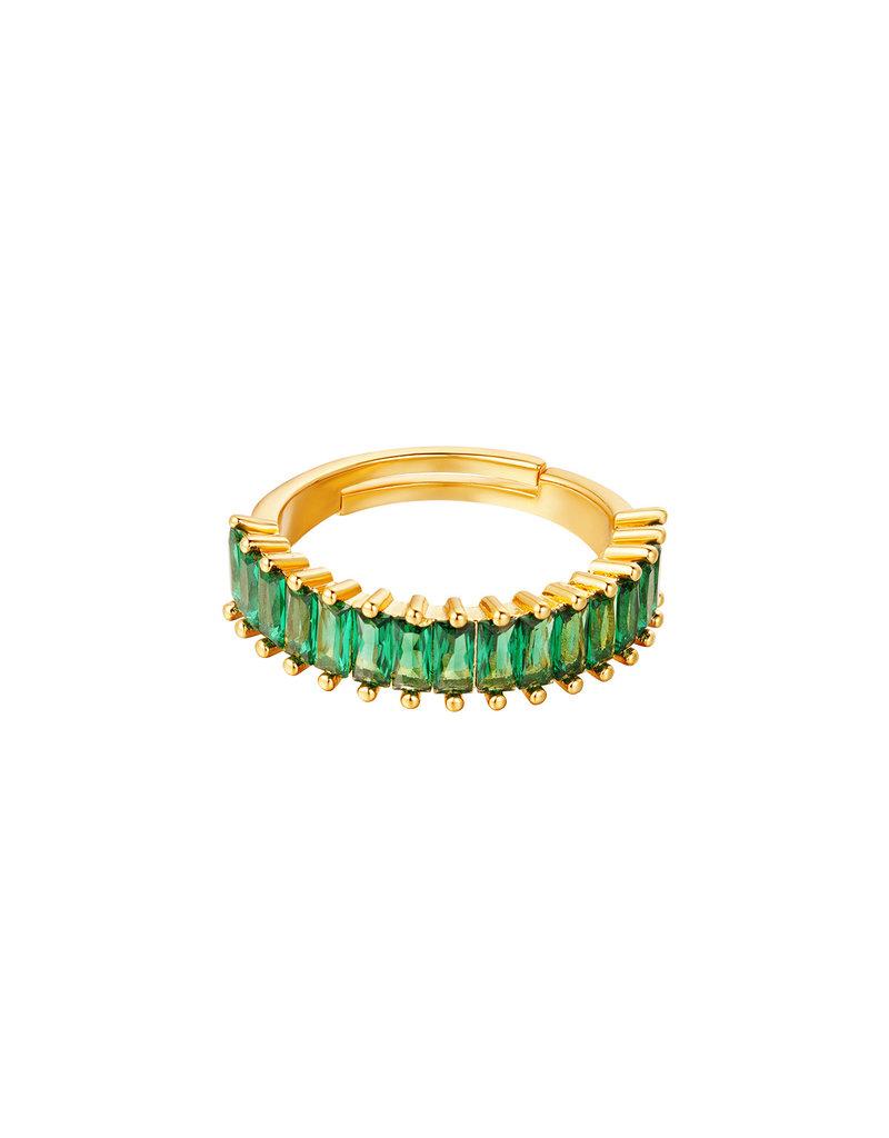 Ring goud kleurrijke edelstenen