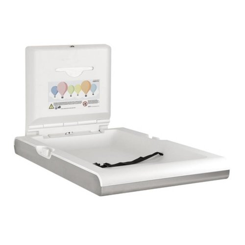Mediclinics Baby changing table vertical stainless steel