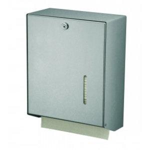 MediQo-Line Håndklædedispenseren aluminium stor