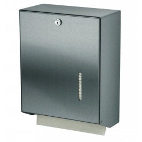 MediQo-Line Håndklæde dispenser rustfrit stål stor