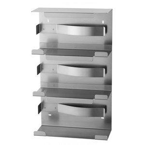 MediQo-Line Gant distributeur trio en acier inoxydable