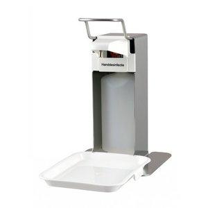 MediQo-Line Sæbe & desinfektion Dispenser 500ml rustfrit stål + opsamlingsbakke
