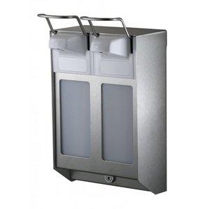 MediQo-Line DUO Soap & desinfektionsmiddel dispenser 500 ml KB rustfrit stål