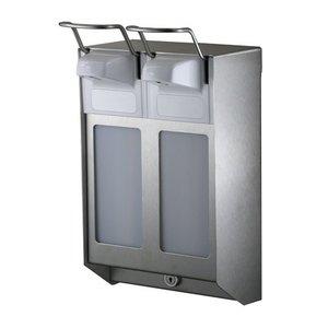 MediQo-Line DUO Soap & desinfektionsmiddel dispenser 1000 ml KB rustfrit stål