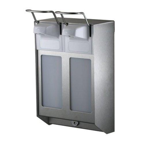 MediQo-Line DUO Soap & disinfectant dispenser 1000 ml KB stainless steel