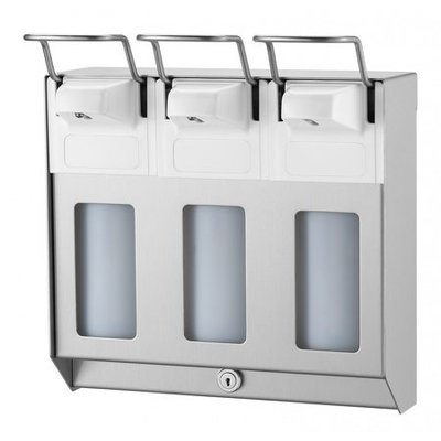 MediQo-Line TRIO Soap & disinfectant dispenser 500 ml KB stainless steel