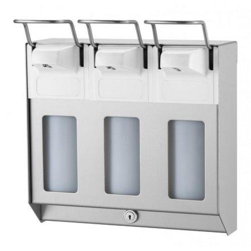 MediQo-Line TRIO Soap & desinfektionsmiddel dispenser 500 ml KB rustfrit stål
