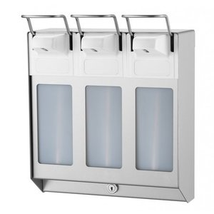 MediQo-Line TRIO Soap & desinfektionsmiddel dispenser 1000 ml KB rustfrit stål