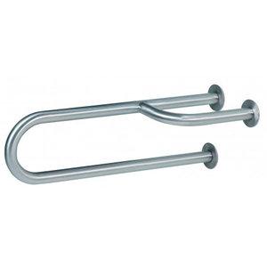 MediQo-Line Væg håndtag i rustfrit stål til venstre