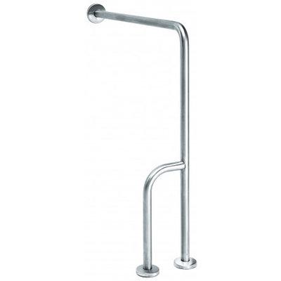 MediQo-Line Wall -> golv handtag i rostfritt stål med extra stav - höger