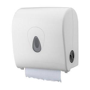 PlastiQline Håndklæde roll dispenser plast hvid mini