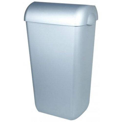 PlastiQline Poubelle en acier inoxydable plastique 43 litres ouvrir