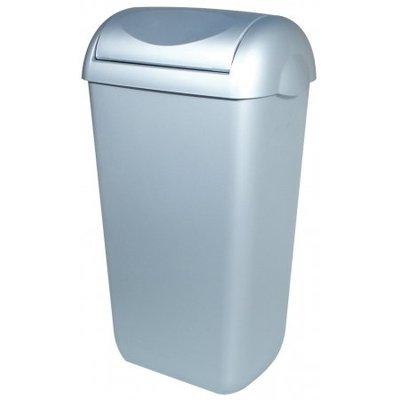 PlastiQline Poubelle regard acier inoxydable en plastique 43 litres balanoire