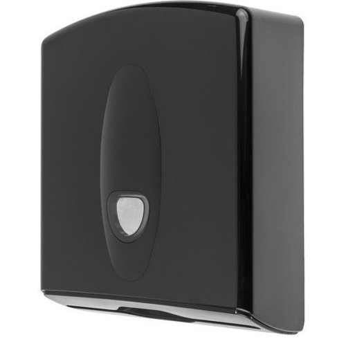 PlastiQline 2020 Handduk dispenser midi plast svart