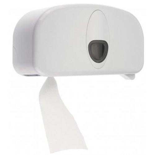 PlastiQline 2020 2-roll holder plastic white (doprol)