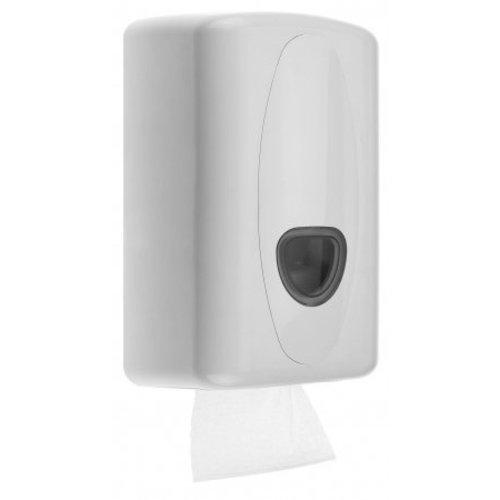 PlastiQline 2020 Toilettes Distributeur de papier blanc en plastique