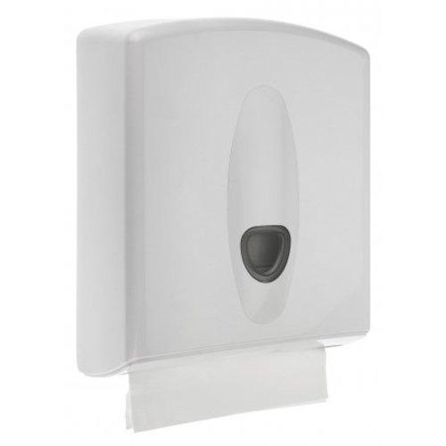 PlastiQline 2020 Distributeur de serviettes en plastique blanc midi
