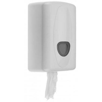PlastiQline 2020 Rengøring roll dispenser mini plast hvid