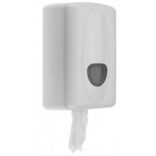 PlastiQline 2020 Distributeur de rouleau de nettoyage mini-plastique blanc