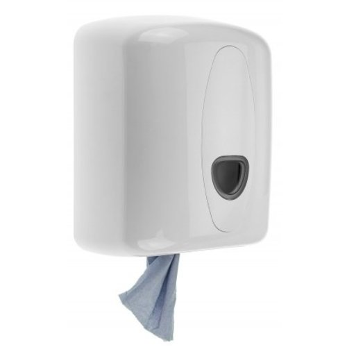 PlastiQline 2020 Cleaning roll dispenser midi plastic white