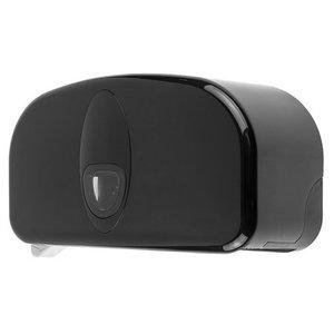 PlastiQline 2020 2-roll holder plastic black (doprol)