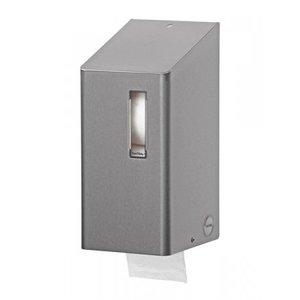 SanTRAL Toalettpappershållare 2-vals av rostfritt stål
