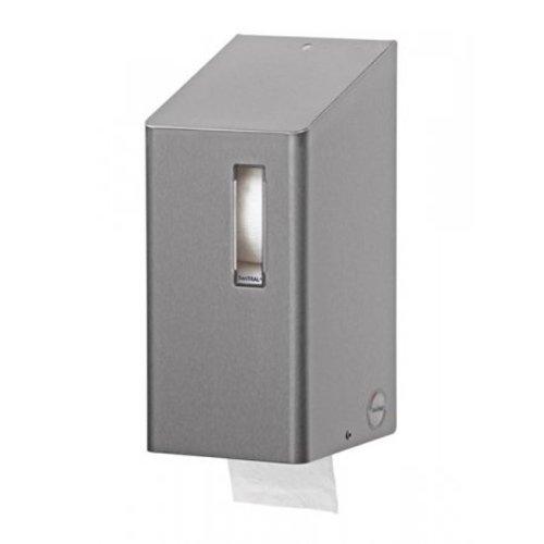 SanTRAL Toilet roll holder (dop roll) 2 roll stainless steel