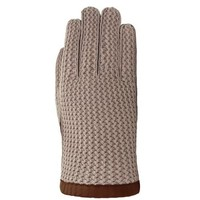leather men's gloves with crochet upper hand model Yale