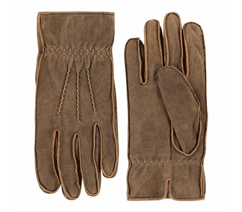 Leren heren handschoenen met vintage uitstraling model Noja