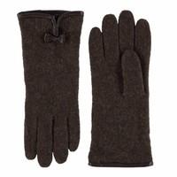 Klassiek wollen dames handschoenen met strikje model Kiel