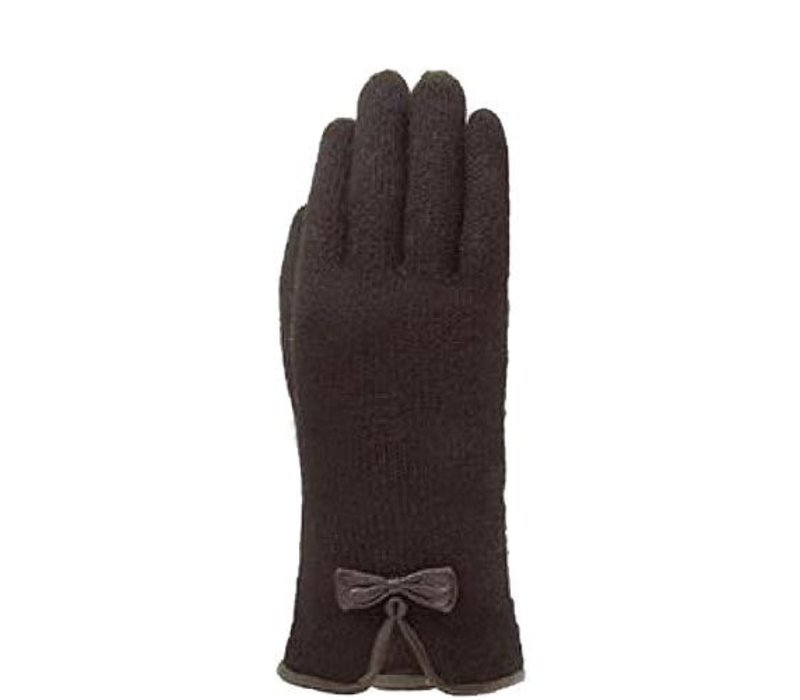 Classic wool ladies gloves with bow model Kiel