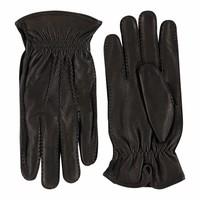 Herten leren heren handschoenen met wollen voering model Hitchin