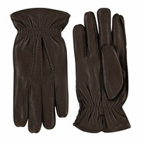 Deer leather men's gloves with wool lining model Hitchin