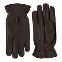 Hirschleder Herren Handschuhe mit Woll-Futter Modell Hitchin