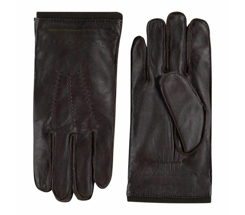 Stoere leren heren handschoenen model Perugia