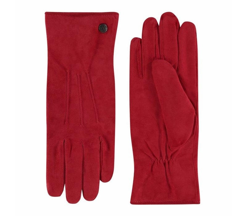 Suede ladies gloves with three stitches model Boretto