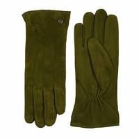 Veloursleder Damenhandschuhe mit drei Aufnähte Modell Boretto